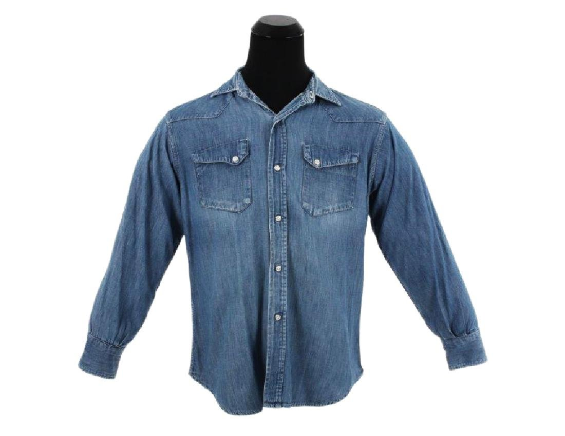"Brad Pitt's ""Benjamin Button"" Denim Shirt W/COA"