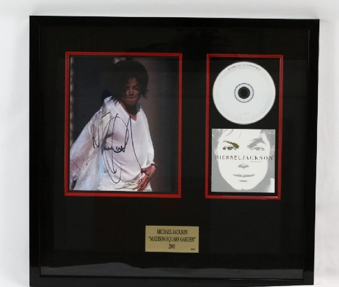 Michael Jackson Madison Square Garden Photo W/Album