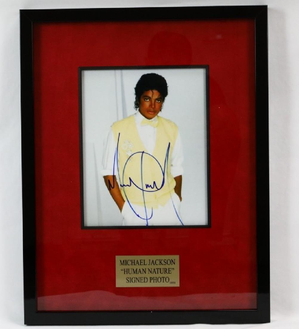 "Michael Jackson Signed ""Human Nature"" Photo"
