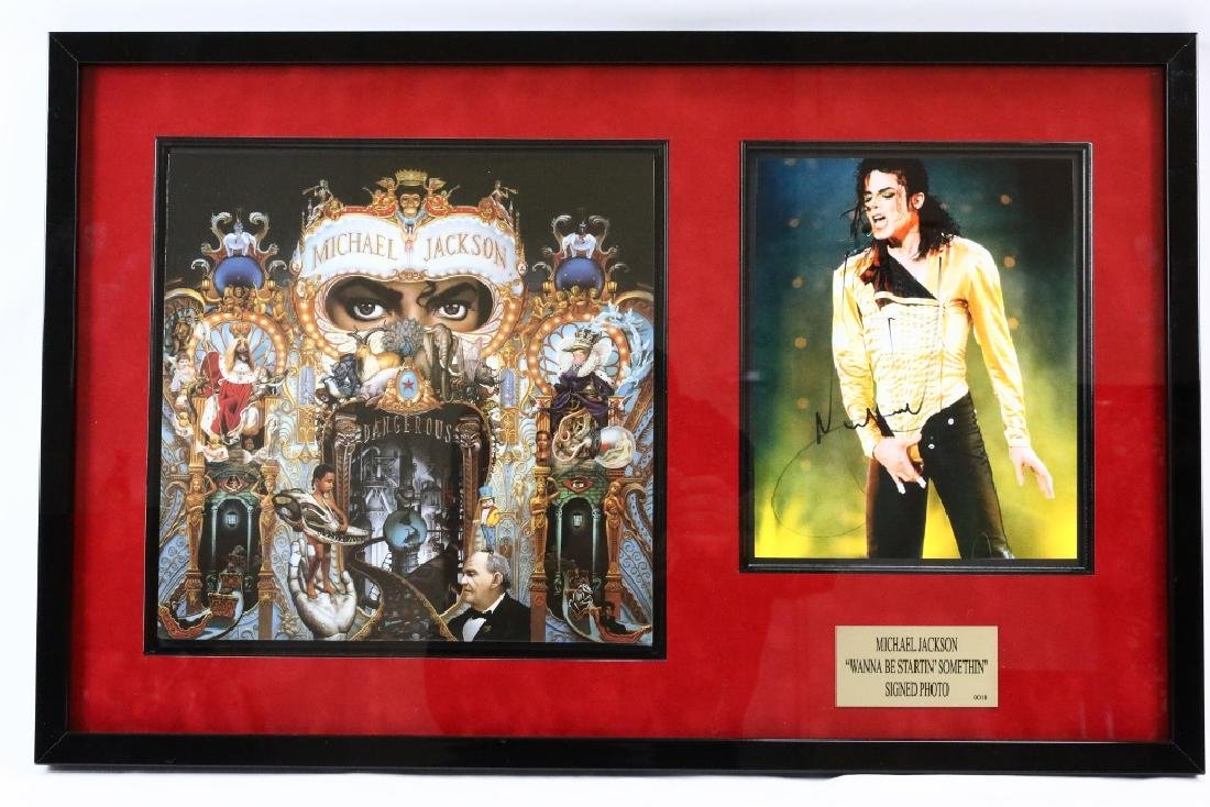 "Michael Jackson Signed ""Startin' Somethin"" Photo"