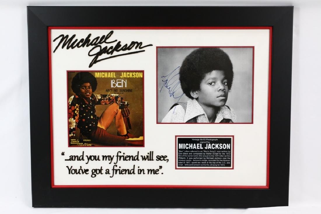 "Michael Jackson ""Ben"" Signed 8""x10"" Photo"