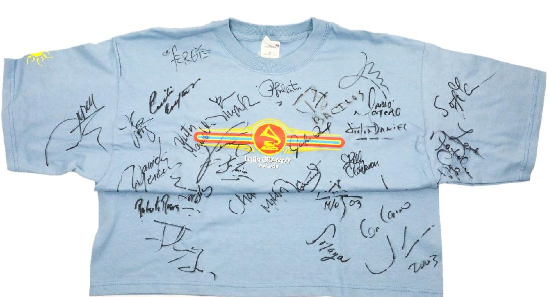 4th Latin Grammy Awards Autographed Shirt 1 of 4