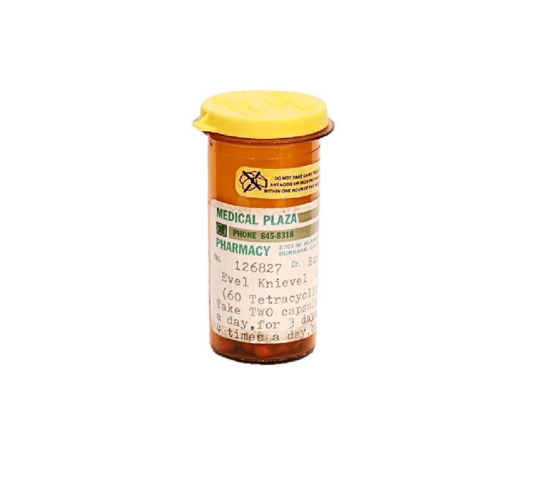 Evel Knievel's Prescription Pill Bottle