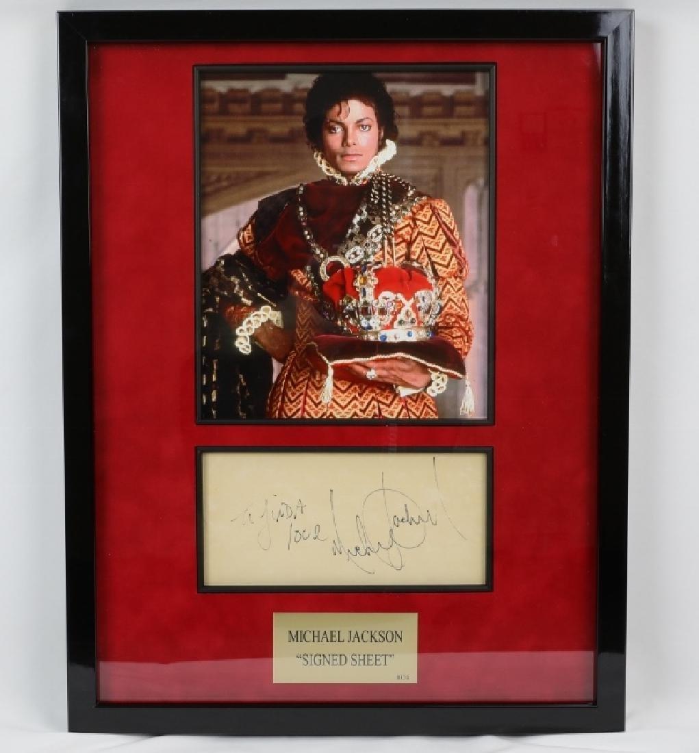 "Michael Jackson ""Forever King"" Photo & Autograph"