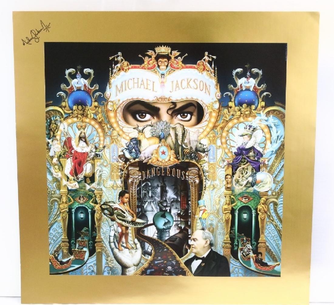 """Michael Jackson Autopen Signed """"Dangerous"""" Litho"""