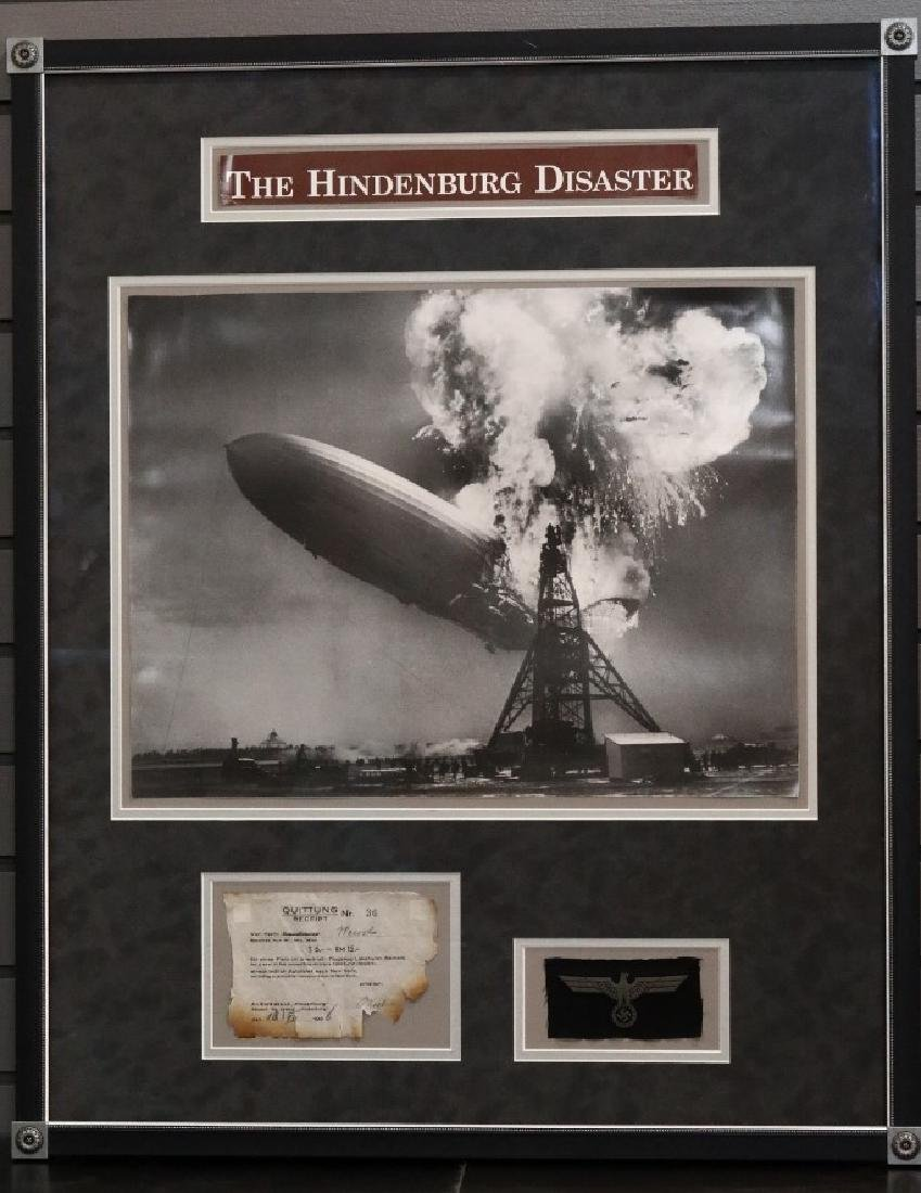 Hindenburg Disaster Ticket Receipt Dated 1935