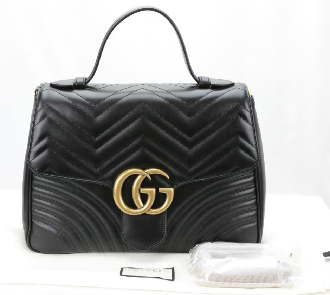 Gucci GG Marmont Medium Top Handle Bag (New)