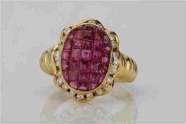 4.05ctw Ruby, 0.45ctw Diamond & 18K Ring