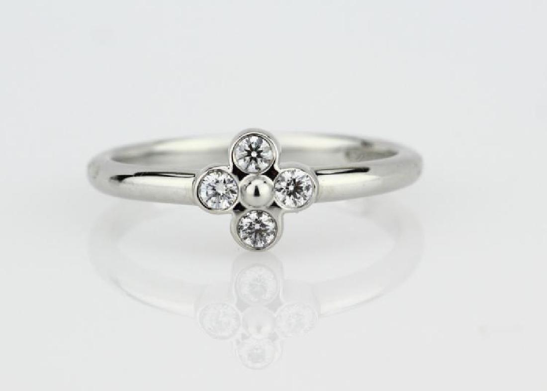 Tiffany & Co. Platinum & VS Diamond Quatrefoil Ring