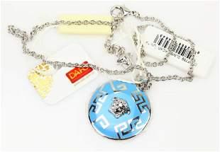 Versace 18 Necklace WEnameled Medusa Pendant