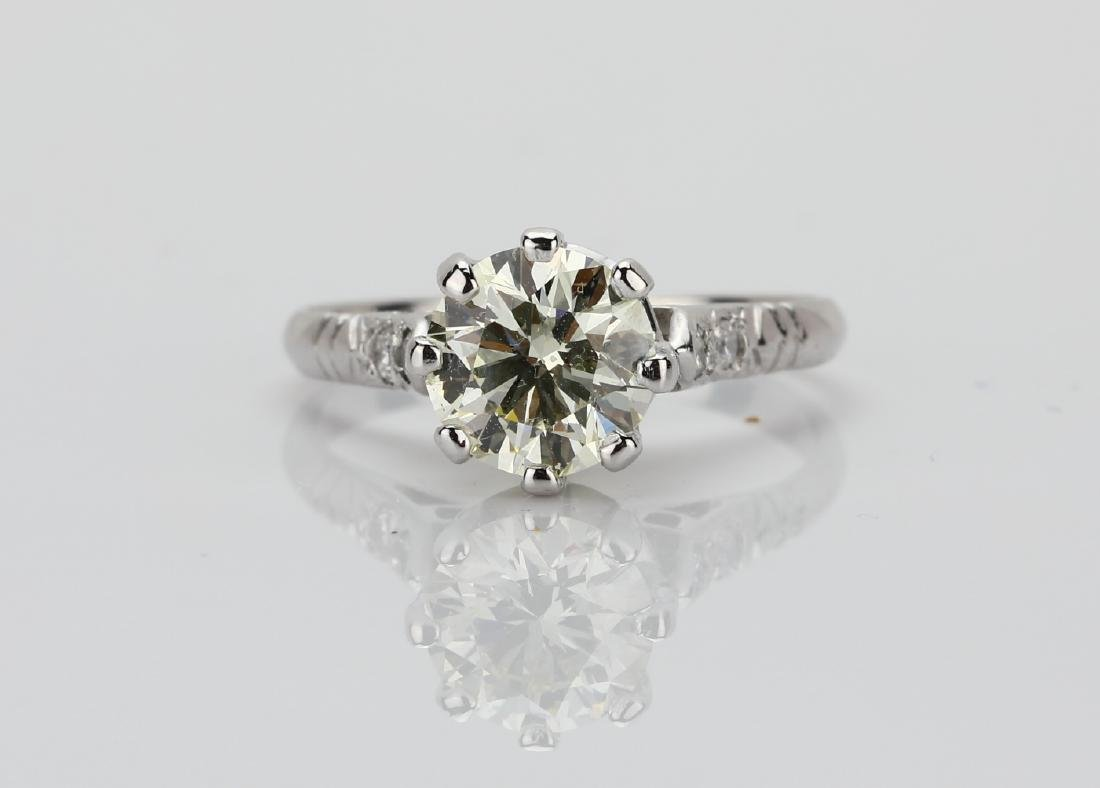 2.25ct Diamond Solitaire in Platinum Band