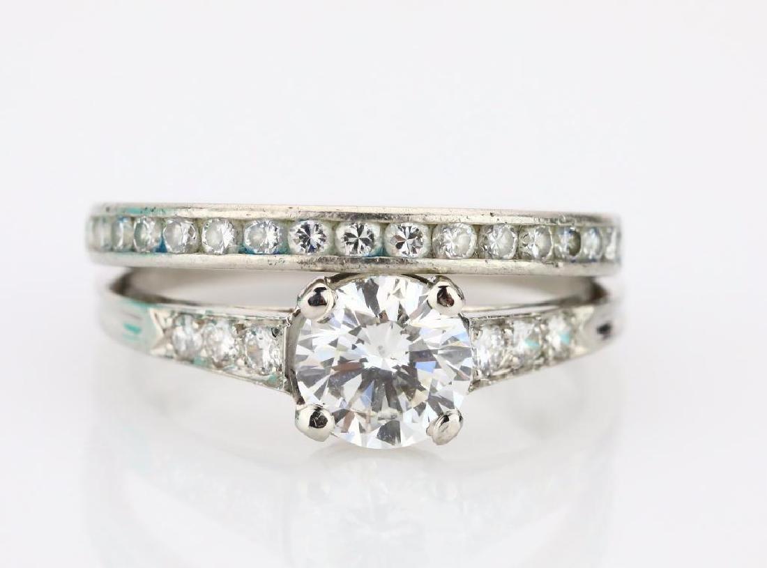 Tiffany & Co 2.35ctw Diamond Platinum Wedding Set