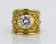 Elizabeth Gage 450ctw Diamond  18K Templar Ring