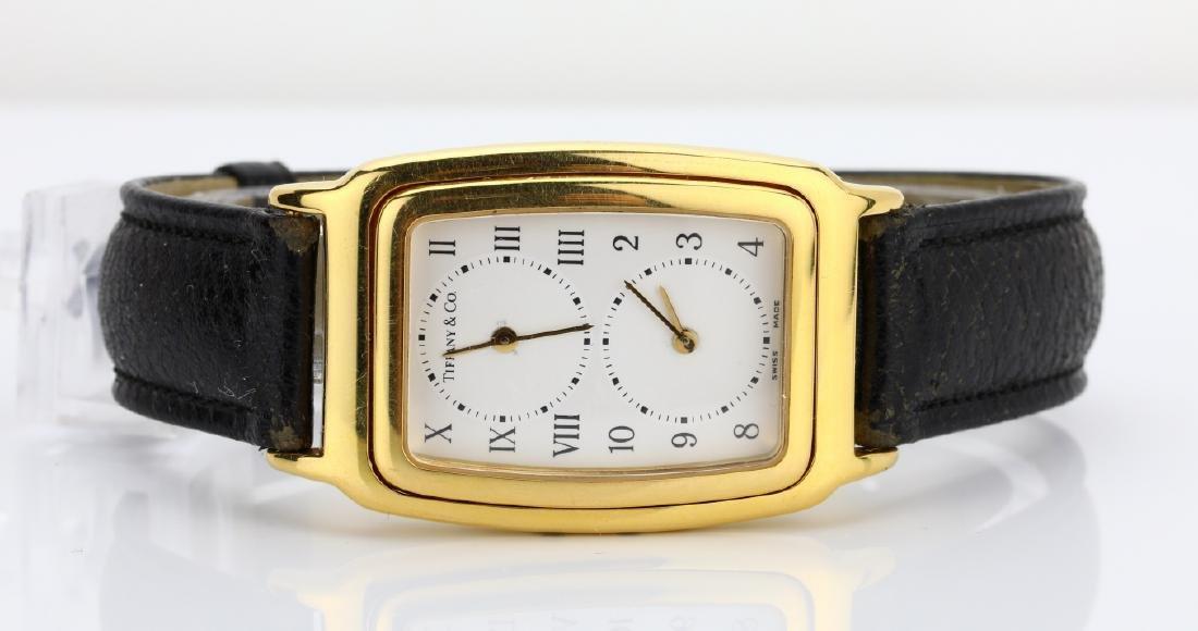 Tiffany & Co. 18K Dual Time Zone Watch