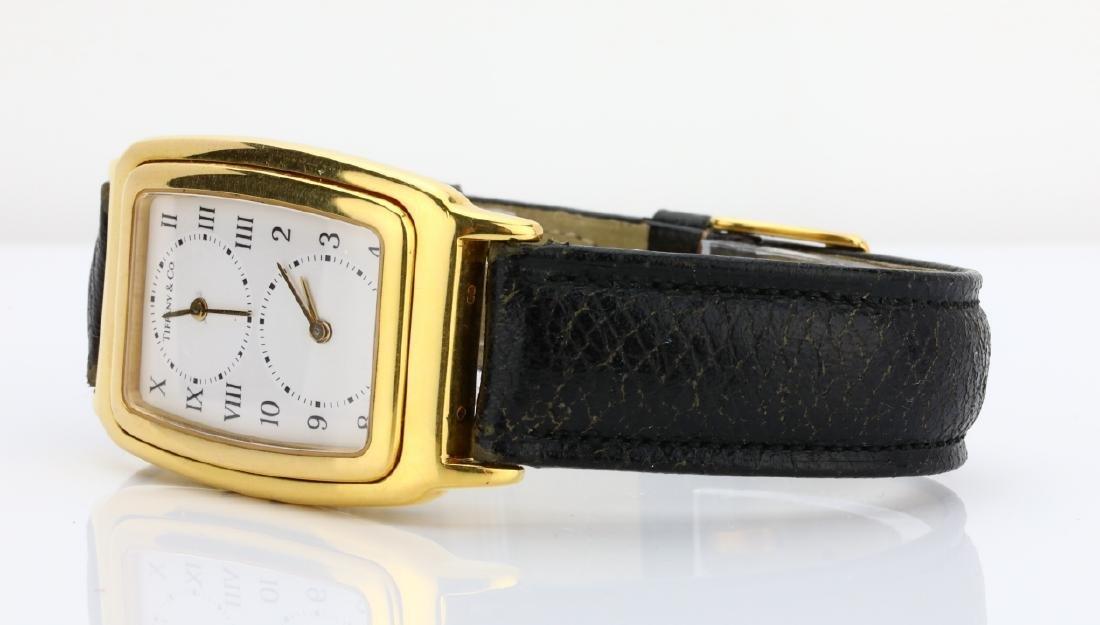 Tiffany & Co. 18K Dual Time Zone Watch - 3