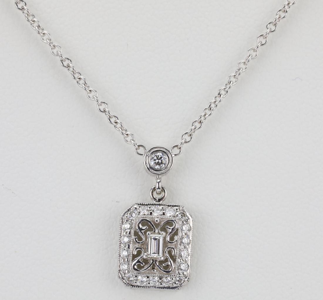"Designer 0.50ctw Diamond & 18K 16"" Necklace"