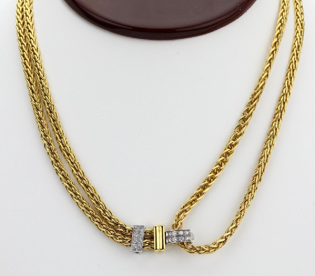 Pomellato Diamond/18K Convertible Dual Row Necklace