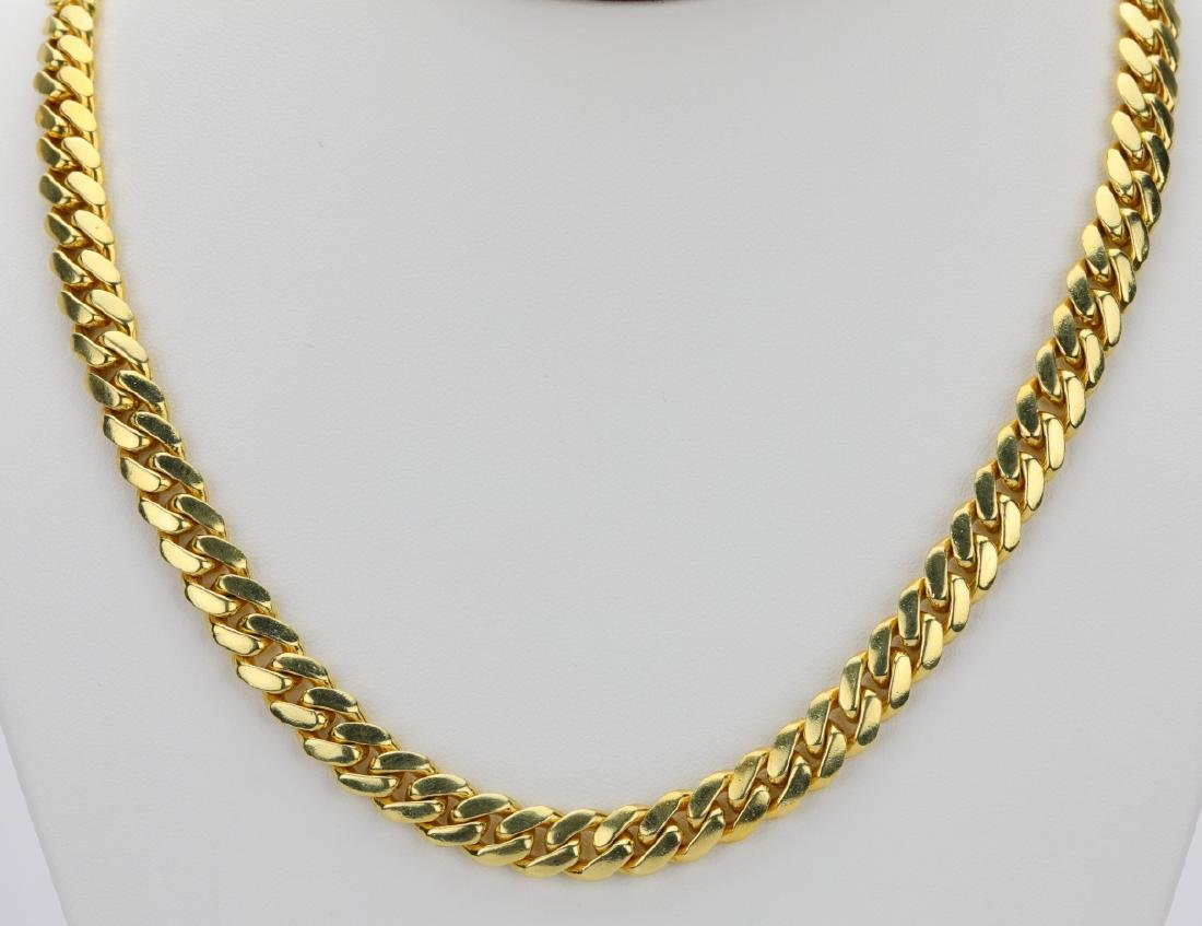 """18K Yellow Gold 8.5mm Wide 25"""" Cuban Link Chain"""