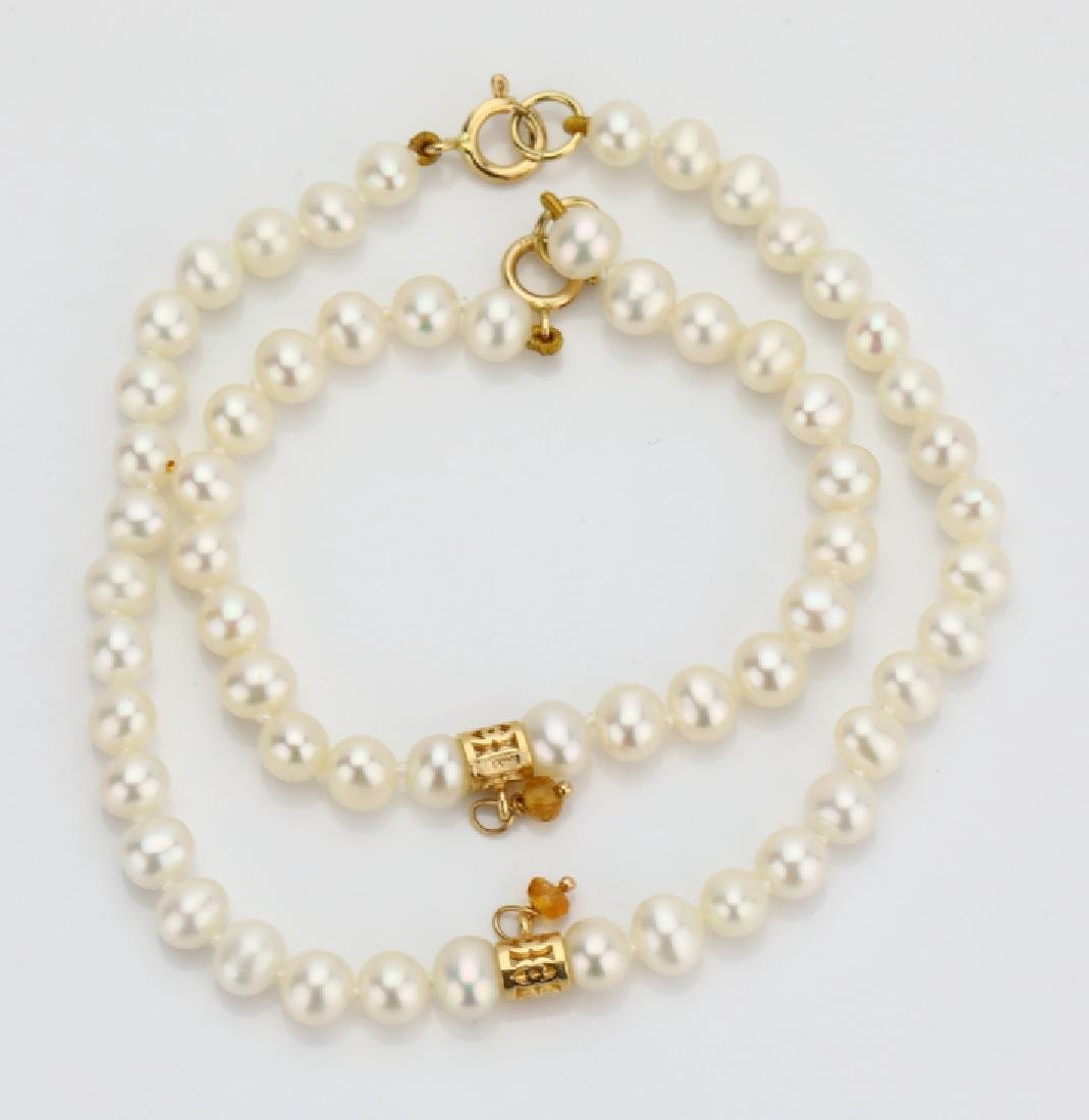 5mm-5.5mm Freshwater Pearl Mommy & Child Bracelets