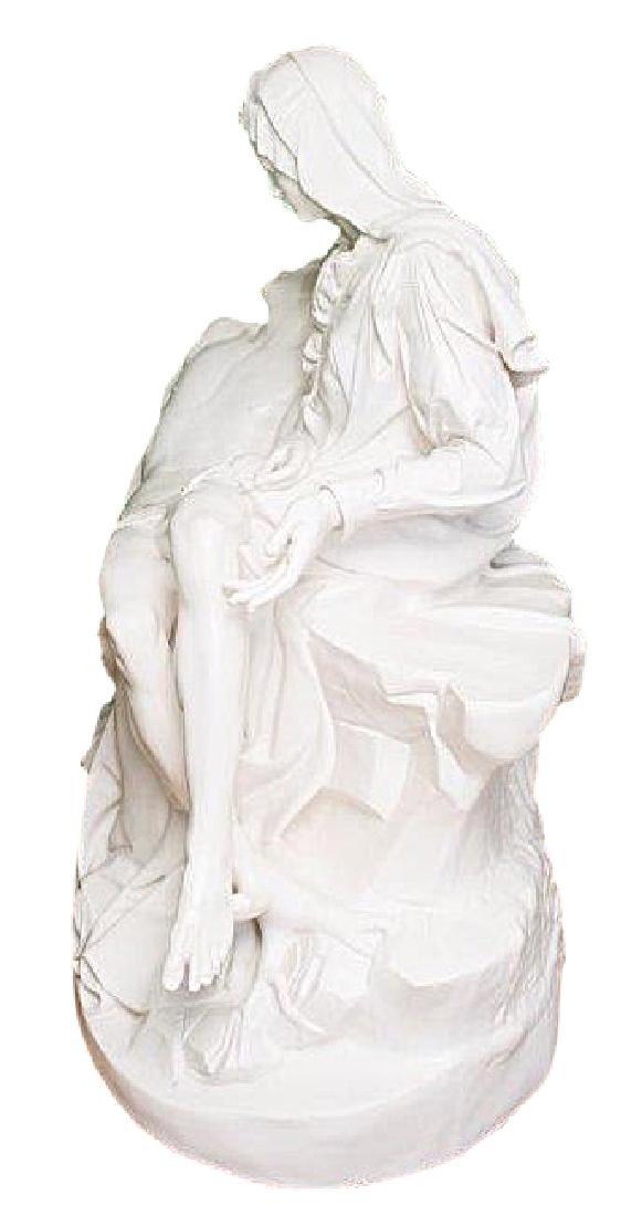 """Pieta"" by Michangelo Marble Replica W/Medici Seal - 4"