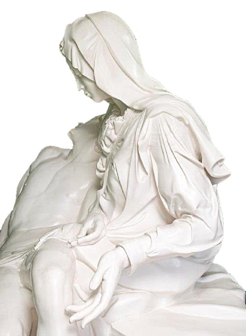 """Pieta"" by Michangelo Marble Replica W/Medici Seal - 5"
