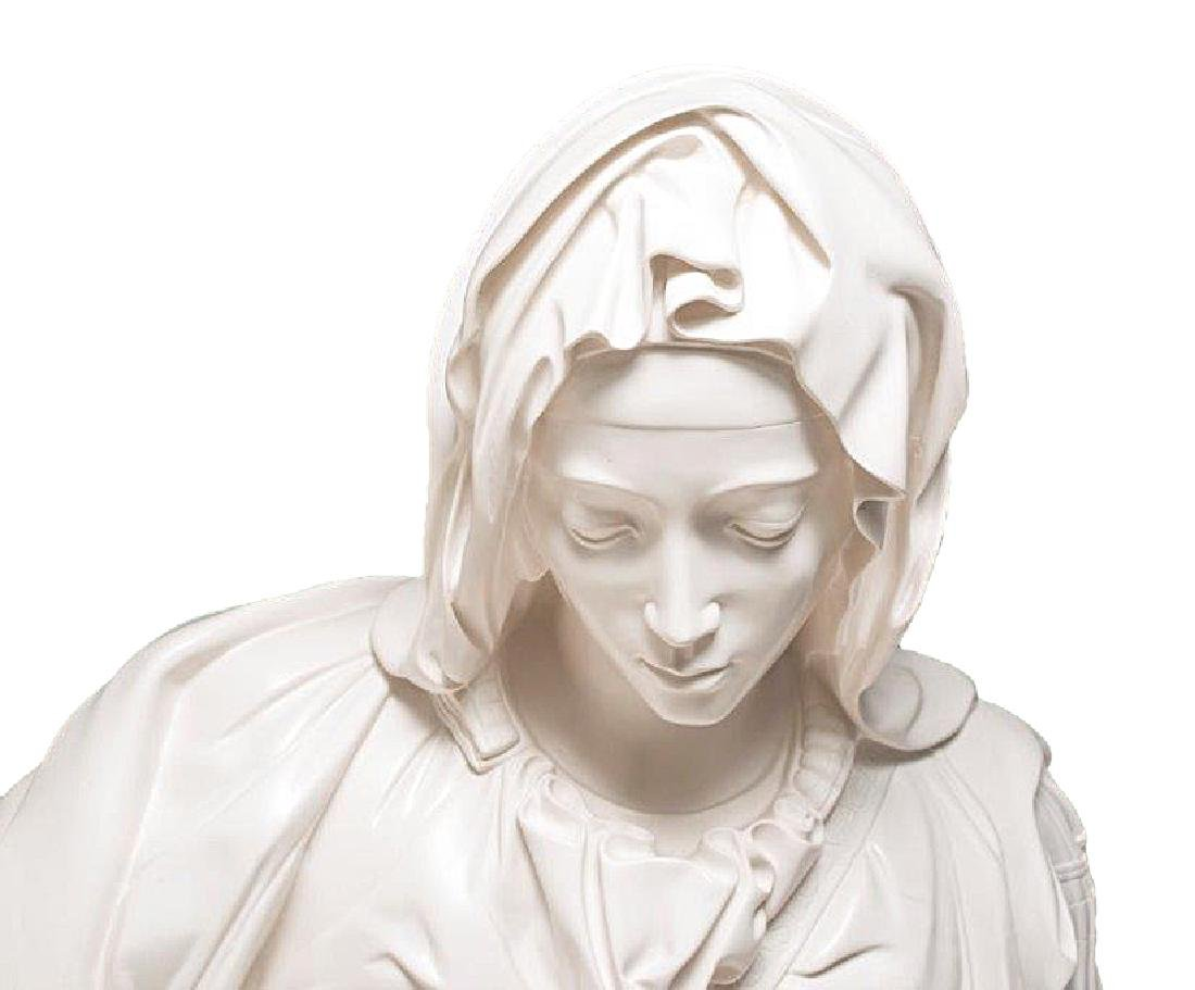 """Pieta"" by Michangelo Marble Replica W/Medici Seal - 6"