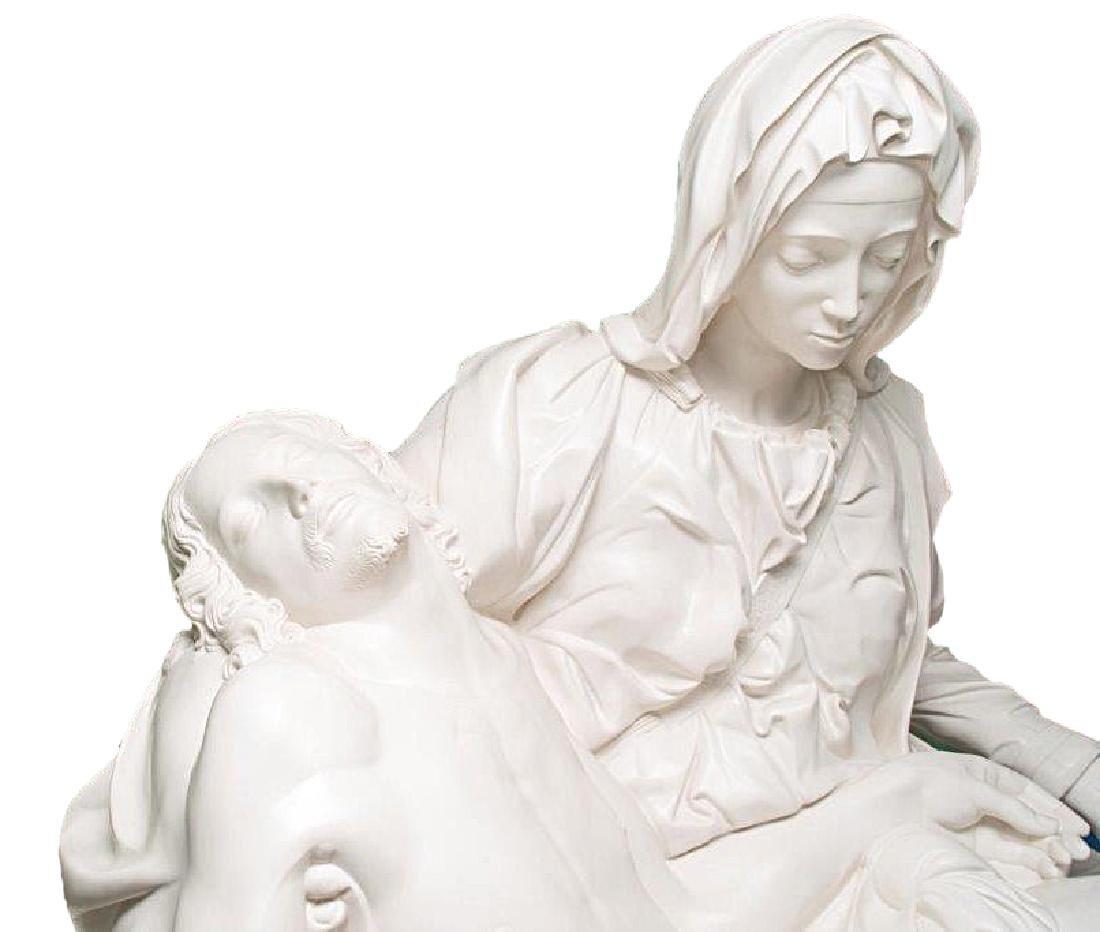 """Pieta"" by Michangelo Marble Replica W/Medici Seal - 8"