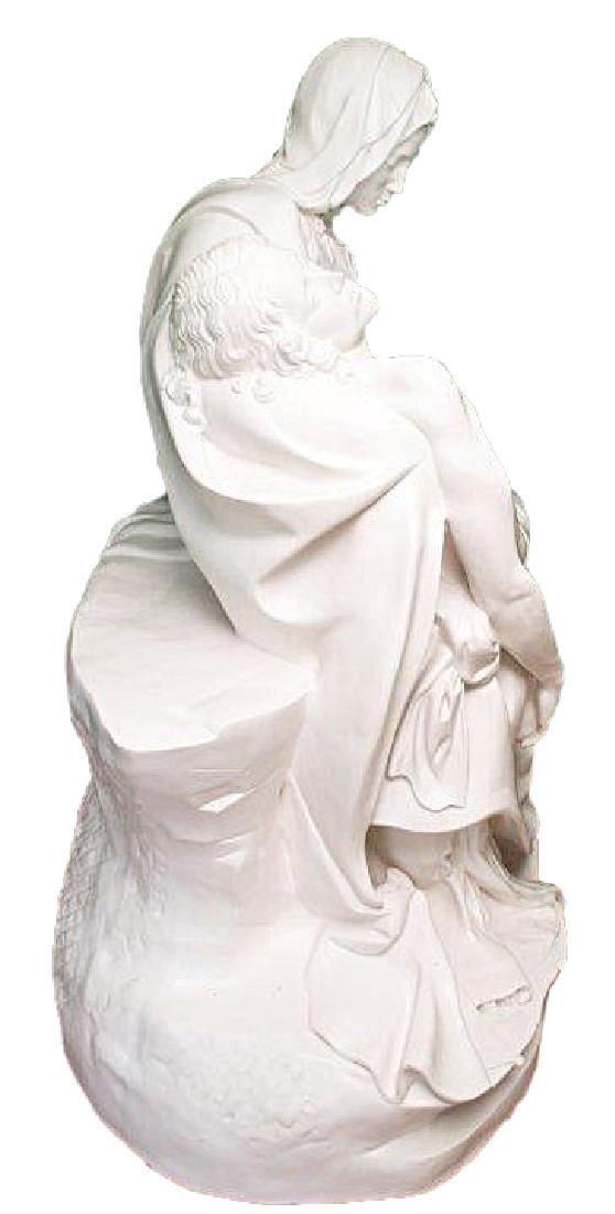 """Pieta"" by Michangelo Marble Replica W/Medici Seal - 9"