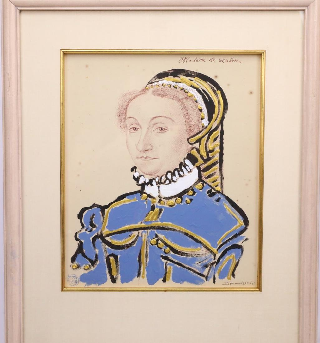 Mixed Media Portrait by Prince Lorenzo de' Medici