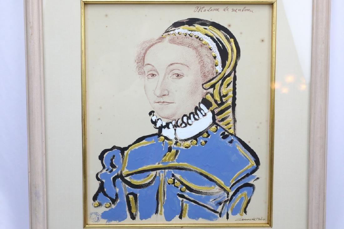 Mixed Media Portrait by Prince Lorenzo de' Medici - 2