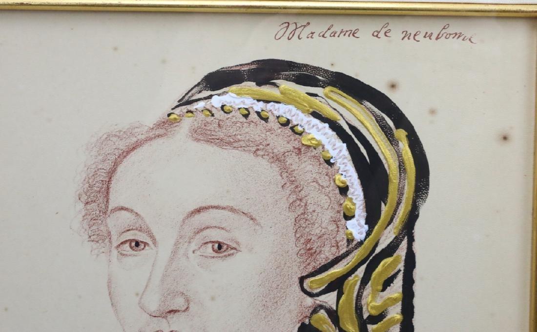 Mixed Media Portrait by Prince Lorenzo de' Medici - 3