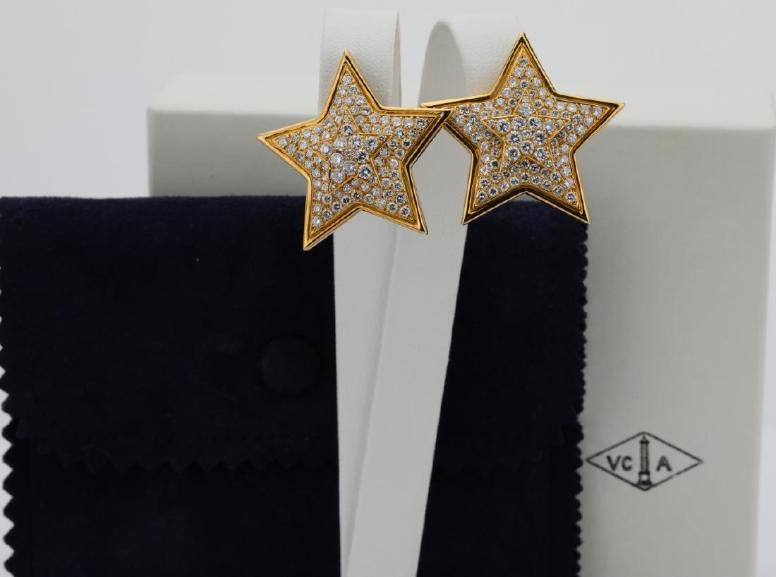 Van Cleef & Arpels 6.64ctw Diamond & 18K Ear Clips