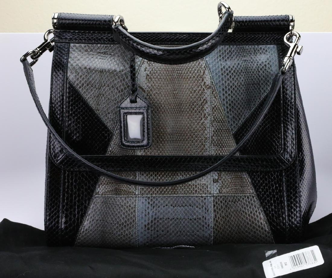 Dolce & Gabbana Python Sicily Tote Mint Condition