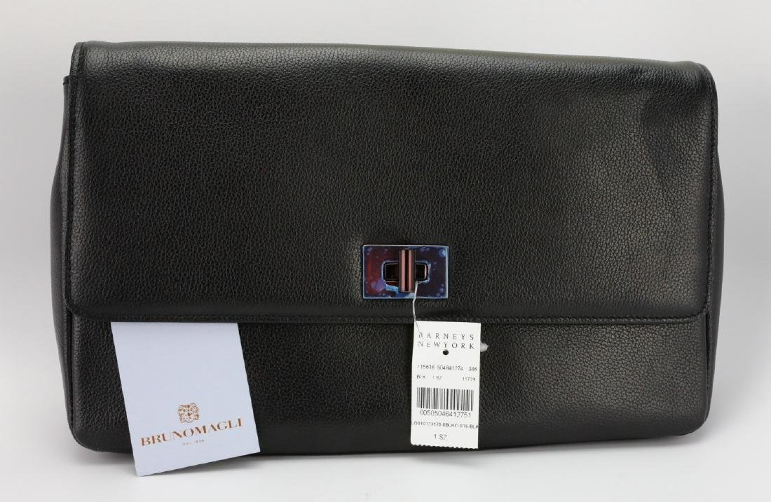 Bruno Magli Black Calf Leather Maggie Clutch - 2