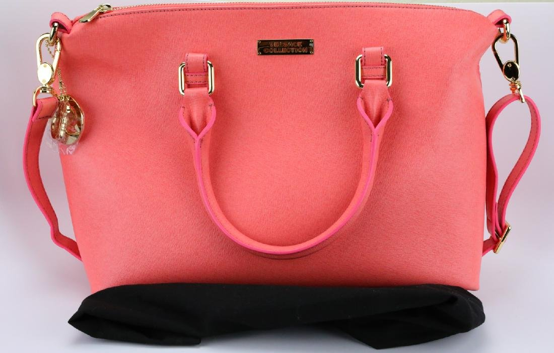 Versace Collection Coral Leather Shoulder Bag