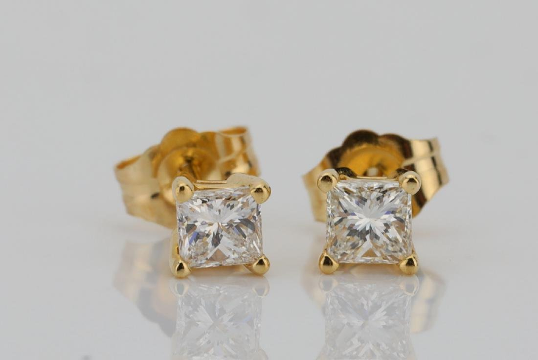 EGL 0.50ctw SI1-SI2/F-G Diamond 14K Earrings