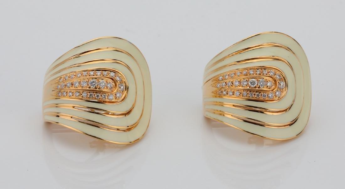 Roberto Coin 18K & 0.50ctw Diamond Earrings