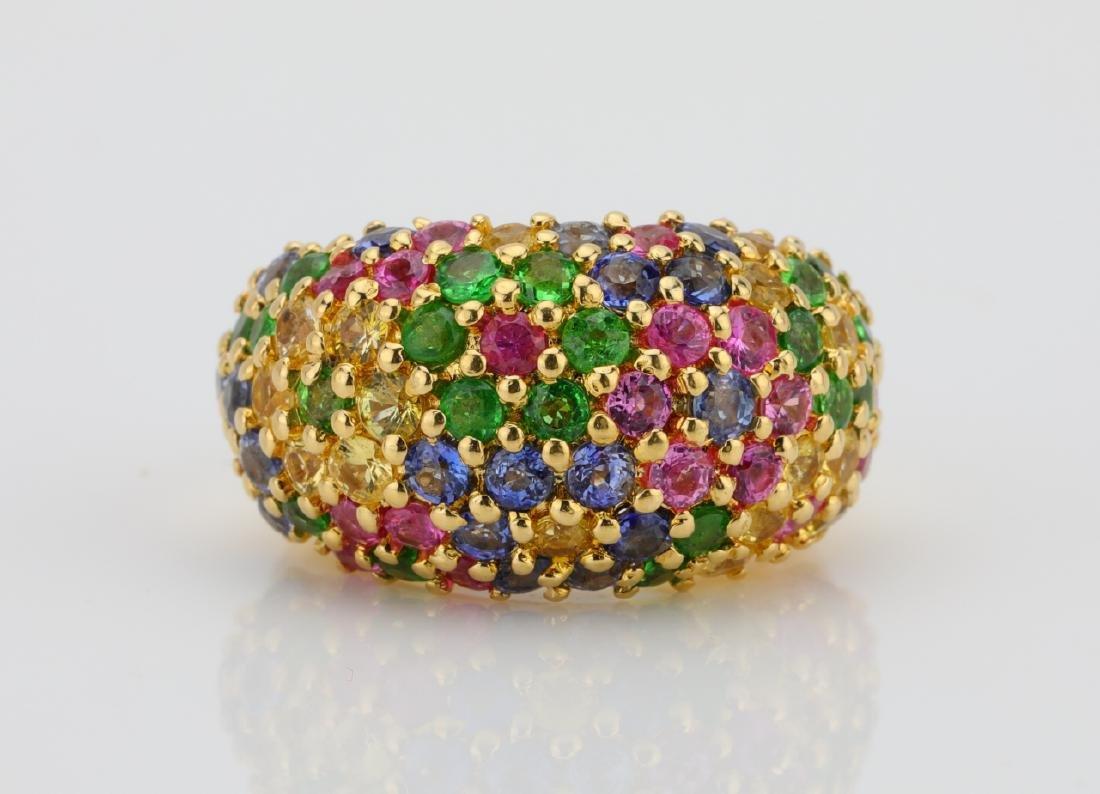 Arezzo 6ctw Multi-Colored Sapphire & 18K Ring