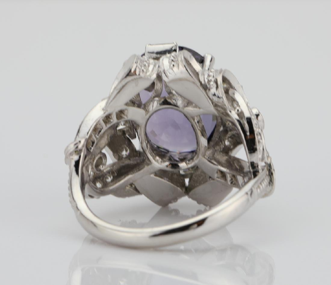 5.25ct Purple Spinel, .75ctw Diamond, Platinum Ring - 7