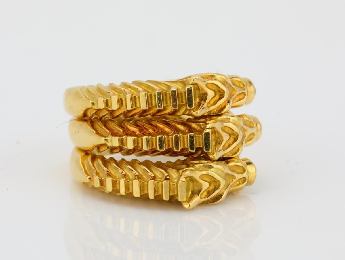 Judith Leiber (3) 18K Zebra Rings W/Gemstones - 3