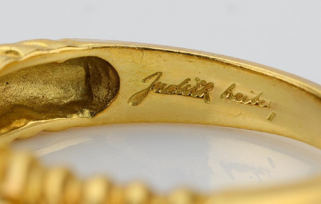 Judith Leiber (3) 18K Zebra Rings W/Gemstones - 5