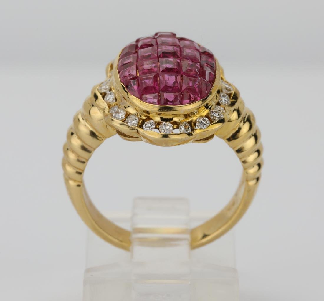 4.05ctw Ruby, 0.45ctw Diamond & 18K Ring - 5