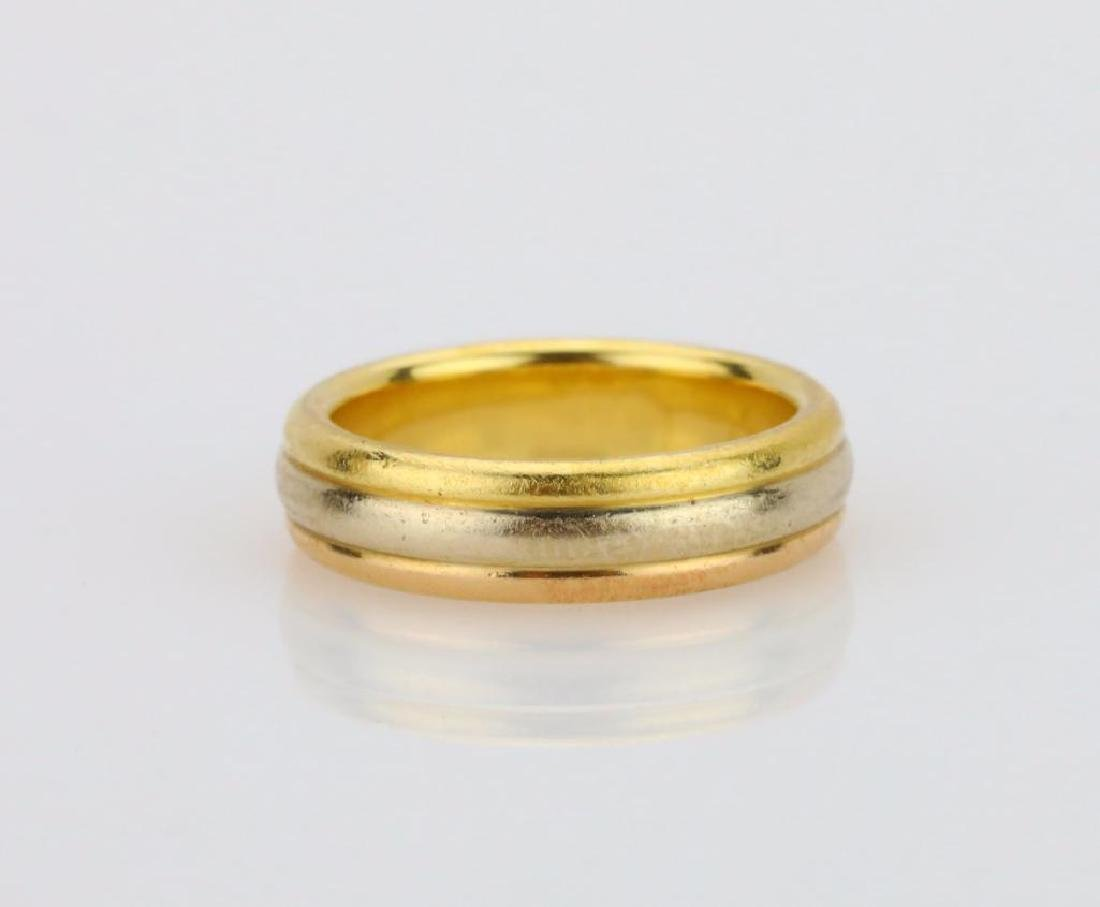 Cartier 1998 18K Tri-Colored Gold 5mm Wide Band