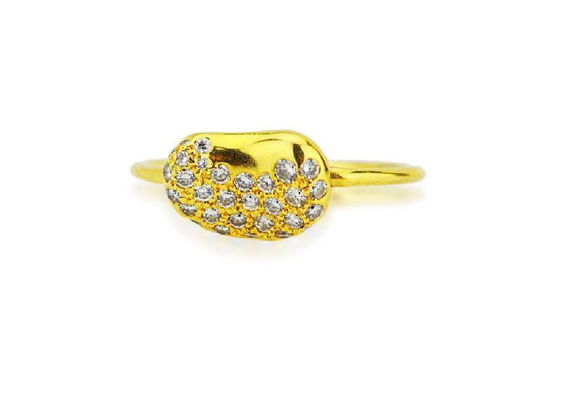 Tiffany & Co. Elsa Peretti 18K Bean Wire Ring