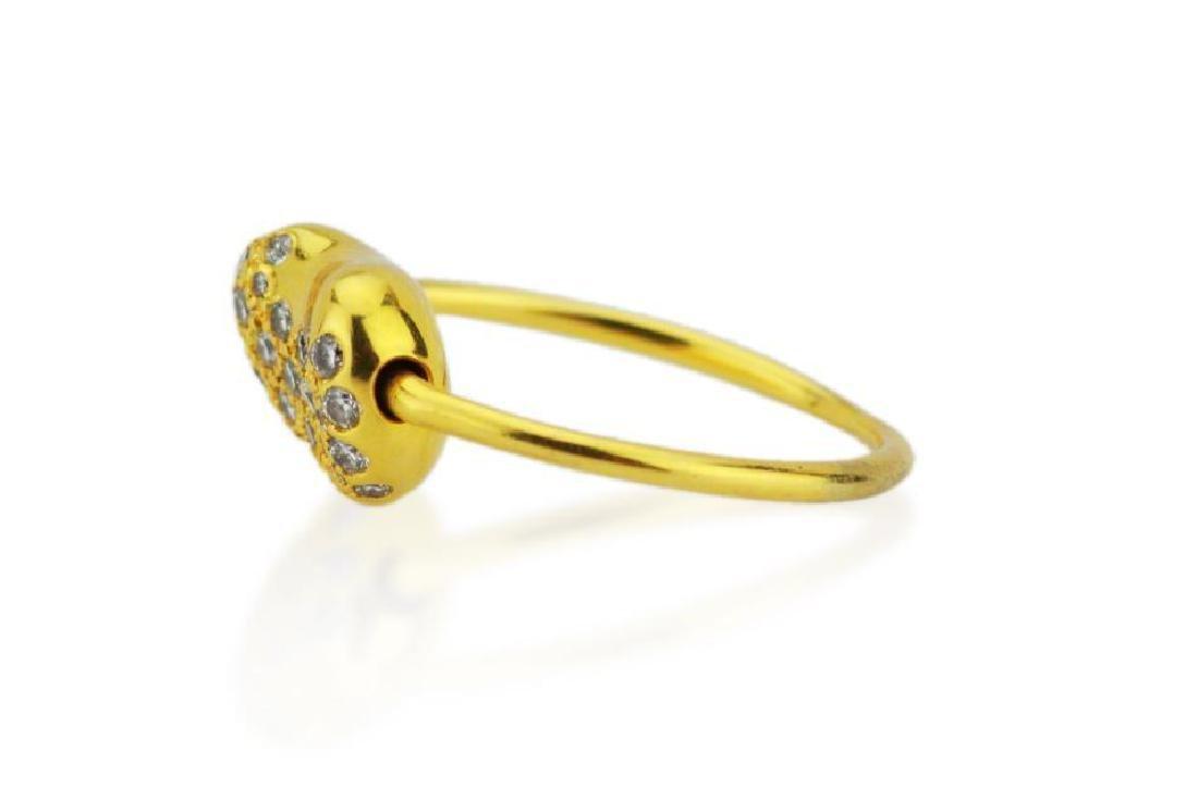 Tiffany & Co. Elsa Peretti 18K Bean Wire Ring - 2