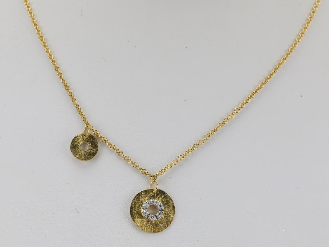 Nanis 14K Yellow Gold Disc Necklace W/Diamonds