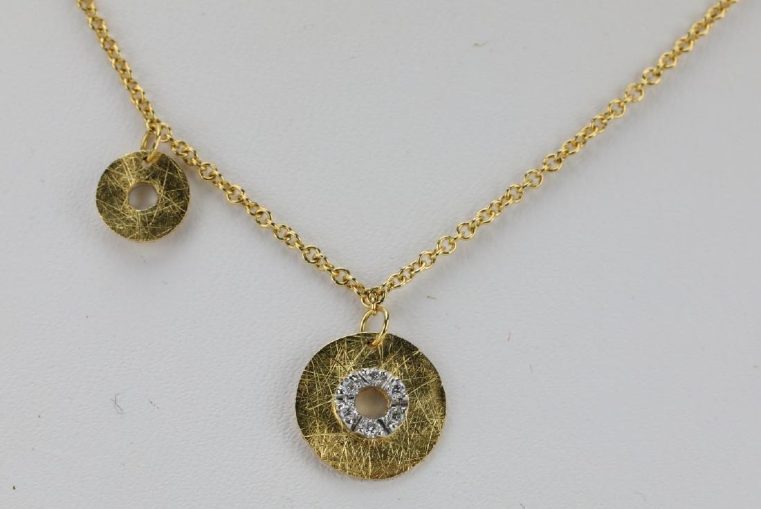 Nanis 14K Yellow Gold Disc Necklace W/Diamonds - 2