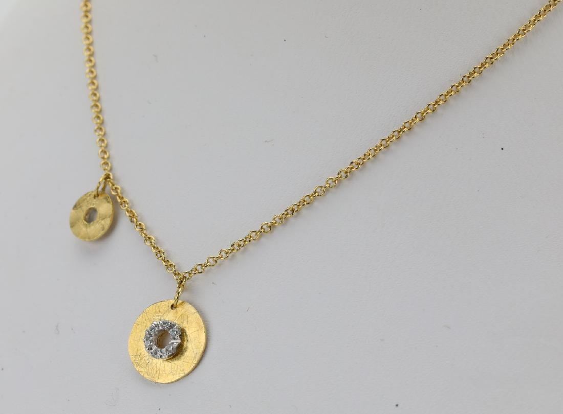 Nanis 14K Yellow Gold Disc Necklace W/Diamonds - 3