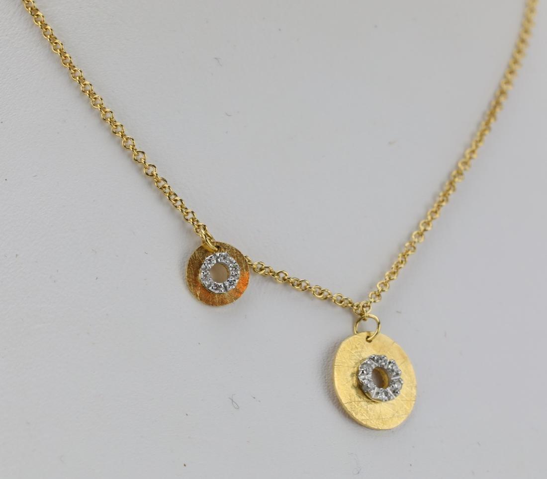 Nanis 14K Yellow Gold Disc Necklace W/Diamonds - 4