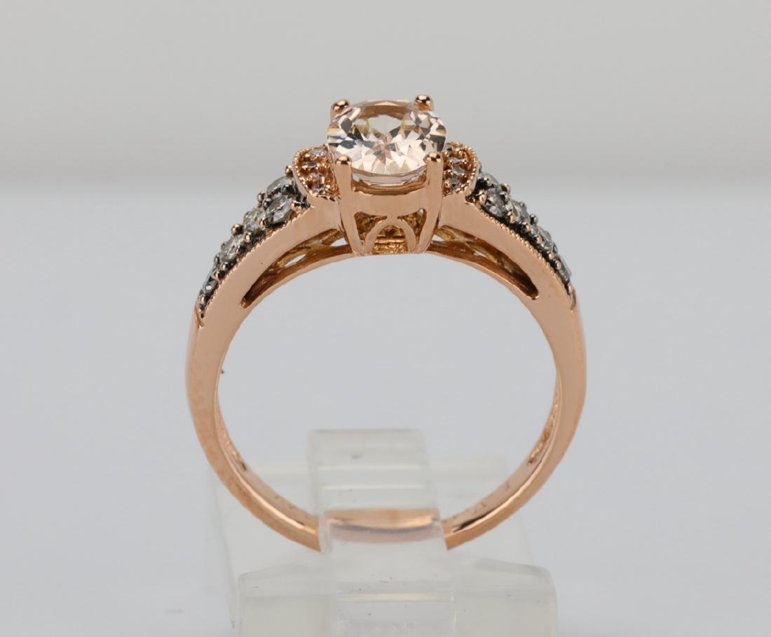 LeVian 1.25ct Morganite & 14K Ring W/Diamonds - 5